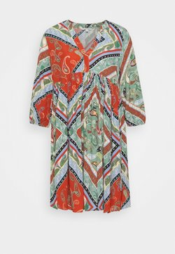 TOM TAILOR DENIM - PRINTED BABYDOLL DRESS - Vestido informal - multi-coloured