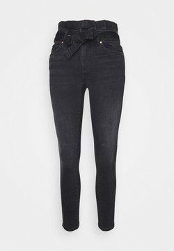 ONLY Petite - ONLHUSH LIFE PAPERBAG - Jeans Skinny - black