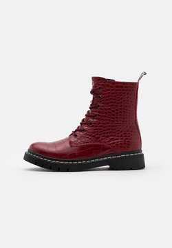 Tamaris - BOOTS - Plateaustiefelette - red