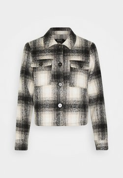 ONLY Petite - ONLLOU SHORT CHECK JACKET - Chaqueta fina - pumice stone