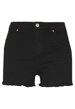 Miss Selfridge - Jeansshort - black
