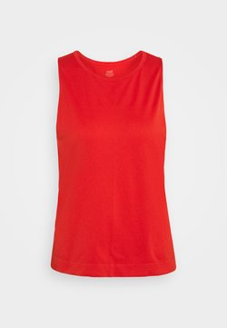 Casall - SEAMLESS BLOCKED TANK - Top - impact red