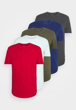 Pier One - 5 PACK - Camiseta básica - turquoise/khaki