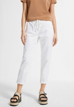 comma casual identity - REGULAR FIT - Jogginghose - white