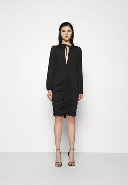 Nly by Nelly - KEYHOLE TIE SLINKY DRESS - Vestido ligero - black