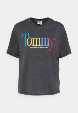 Tommy Jeans - RELAXED COLOR TEE - Printtipaita - black