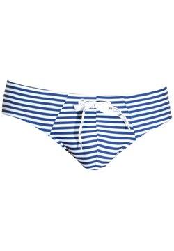 OBOY - Badehose Slip - blau/weiss