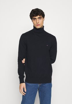 Tommy Hilfiger - PIMA ROLL NECK - Pullover - desert sky heather