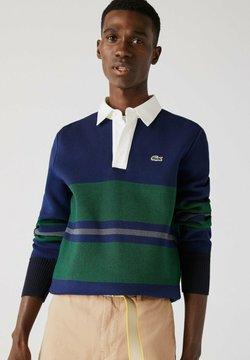 Lacoste - Poloshirt - navy blau / blau / grün / beige / weiß