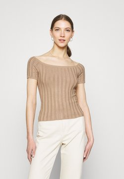 Even&Odd - T-shirt con stampa - camel