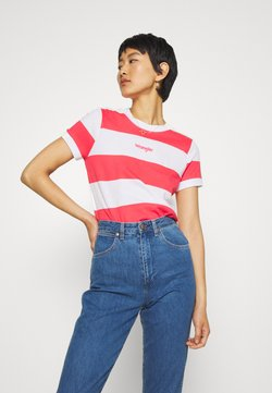Wrangler - STRIPED HIGH - T-Shirt print - paradise pink