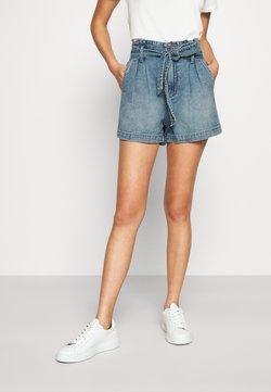 American Eagle - PAPERBAG MOM - Jeans Shorts - medium vintage wash