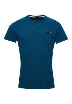 Superdry - OL VINTAGE EMB  - T-shirt basic - ketion blue marl