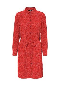 Vero Moda - VMSAGA COLLAR DRESS  - Vestido camisero - goji berry