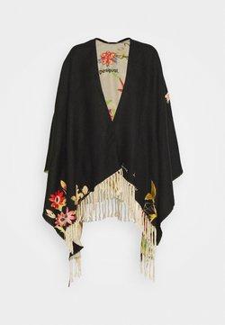Desigual - PONCHO FLOWERISH REVE - Poncho - black