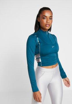 Nike Performance - HYPERWARM - Funktionsshirt - midnight turquoise/metallic silver