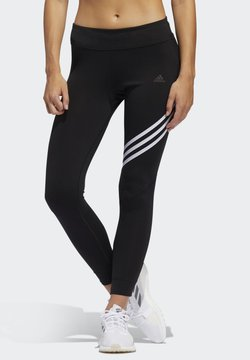 adidas Performance - RUN IT 3-STRIPES 7/8 LEGGINGS - Tights - black