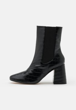 Missguided - HIGH SHAFT CHELSEA BOOT - High Heel Stiefelette - black
