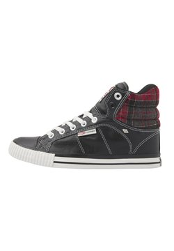 British Knights - SNEAKER ATOLL - Sneaker high - black/red checker