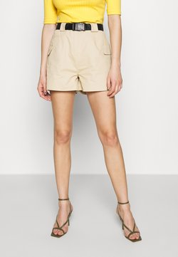 Missguided Tall - POCKET DETAILING AND BELT - Shorts - stone