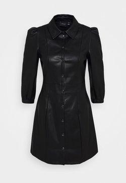 Vero Moda - VMBUTTERMOLLY ABOVE KNEE COATED DRESS - Freizeitkleid - black