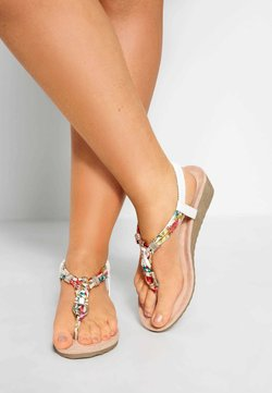 Yours Clothing - Keilsandalette - white