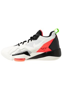 Jordan - ZOOM '92 - Sneakers hoog - white/flash crimson/black/sail/electric green/hyper violet