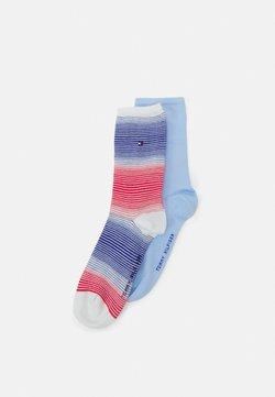Tommy Hilfiger - WOMEN GRADIENT STRIPE 2 PACK - Socken - blue