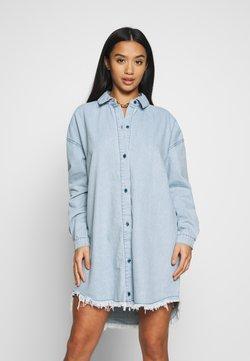 Missguided Petite - OVERSIZED - Robe d'été - blue