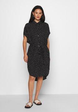 Monki - NINNI DRESS - Skjortekjole - black