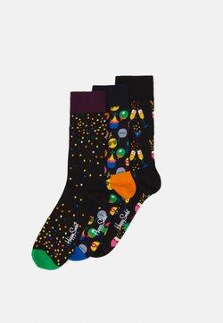 Happy Socks - CELEBRATION GIFT SET 3 PACK - Skarpety - black