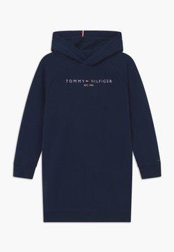 Tommy Hilfiger - ESSENTIAL HOODED - Freizeitkleid - blue