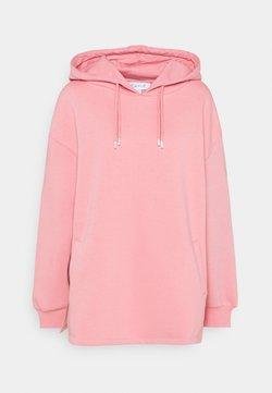 NU-IN - DOUBLE DRAWCORD SIDE SPLIT HOODIE - Collegepaita - pink
