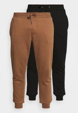 Burton Menswear London - 2 PACK - Jogginghose - black