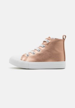 Cotton On - CLASSIC LACE UP UNISEX - Sneakers hoog - rose gold metallic