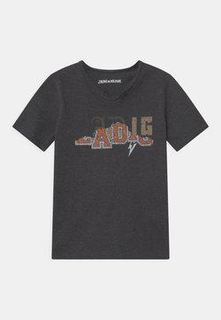 Zadig & Voltaire - T-shirt med print - mottled grey