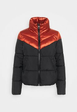ONLY - ONLMAGGIE SHORT QUILTED JACKET  - Winterjacke - red ochre/black