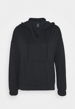 Nike Performance - CORE COLLECTION COVERUP - Hoodie - black/smoke grey
