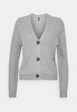 ONLY - ONLLEXI BUTTON CARDIGAN - Strickjacke - medium grey melange