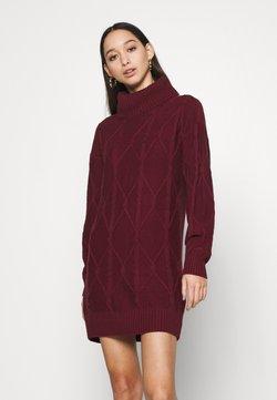 Hollister Co. - SWEATER DRESS - Strikkjoler - burgundy