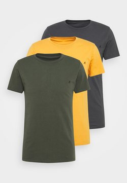 Replay - CREW TEE 3 PACK - Basic T-shirt - cold grey/ochre/military