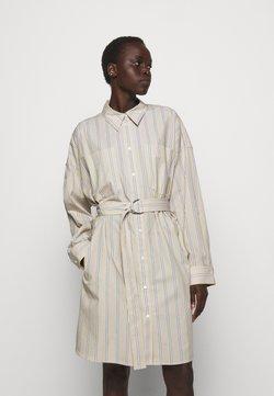 3.1 Phillip Lim - STRIPED BUTTON UP SHIRT DRESS - Blusenkleid - tan
