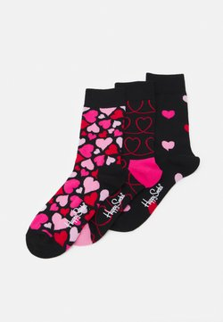 Happy Socks - HEARTS 3 PACK - Chaussettes - black
