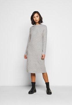 Pieces Petite - PCDISA MOCK NECK KNIT DRESS  - Gebreide jurk - light grey melange
