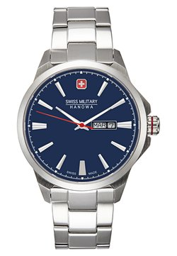 Swiss Military Hanowa - DAY DATE CLASSIC - Montre - dark blue/silver-coloured