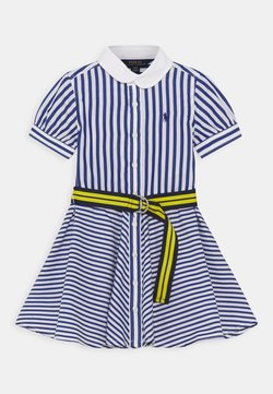 Polo Ralph Lauren - MIX STRIPE DRESSES - Blusenkleid - blue/white