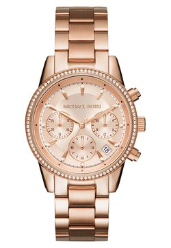 Michael Kors - RITZ - Zegarek chronograficzny - rose gold-coloured