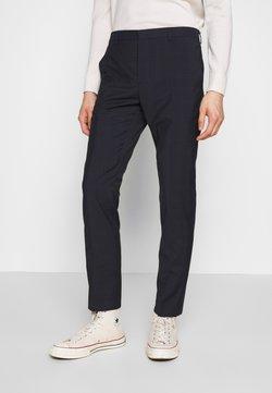Calvin Klein Tailored - WINDOW CHECK SLIM PANTS - Stoffhose - blue