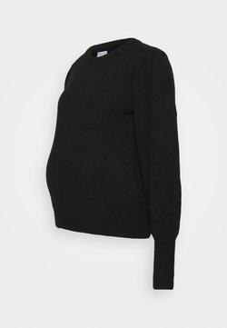 Pieces Maternity - PCMPAM ONECK - Jersey de punto - black