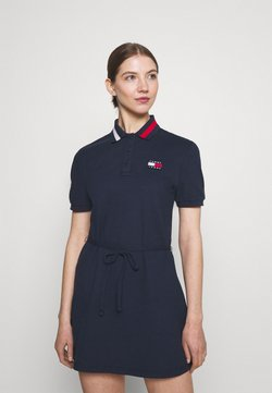 Tommy Jeans - FLARED FLAG DRESS - Vestido informal - twilight navy